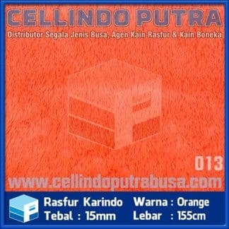 kain rasfur karindo warna orange
